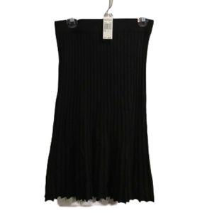 NWT Premise Black Ribbed Sweater Skirt